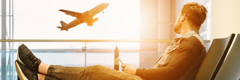 Moe door vlucht in vliegtuig