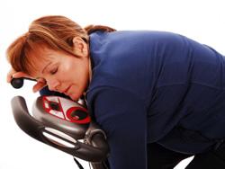 sporten veroorzaakt vermoeidheid in je hoofd