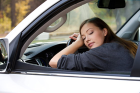 vermoeid autorijden